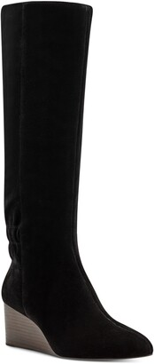 Sole Society Deannah Tall Leather Wedge Boot