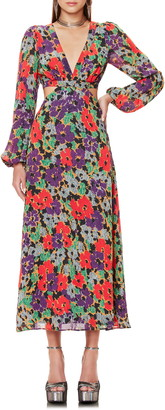 AFRM Lowell Long Sleeve Floral Print Dress