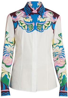 Emilio Pucci Manu-Print Stretch-Cotton Shirt
