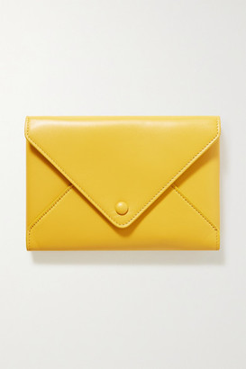 The Row Envelope Small Leather Clutch - Yellow