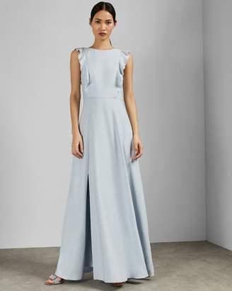 Ted Baker ARDENIA Waterfall ruffle maxi dress