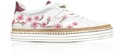 Hogan R260 Floral Embroidered Leather Sneakers