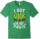Women's I Got Luck in My Pants - St. Patrick's Day Funny Pun T-Shirt Large