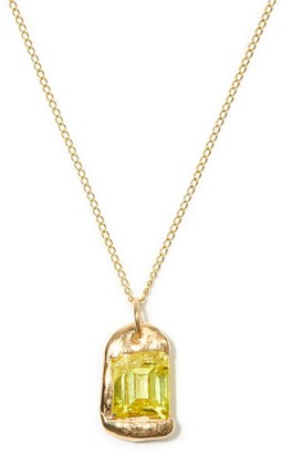 Bleue Burnham The Rose Recycled-gold Pendant Necklace - Yellow