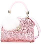 Young Versace pompom charm shoulder bag