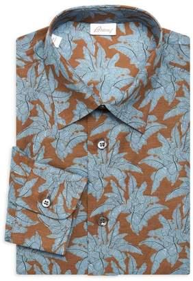 Brioni Floral Dress Shirt