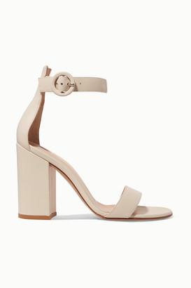 Gianvito Rossi Versilia 100 Leather Sandals - Off-white