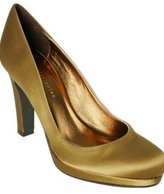 bronze satin 'Casey' platform pumps