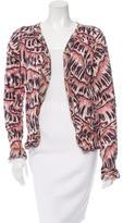 Bottega Veneta Silk Printed Cardigan
