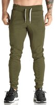 Ouber Fitted Sweat Pants   Sweatpants Bodybuilding Pants Joggers Gym (, M)