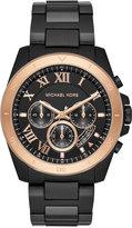 Michael Kors Men's Brecken Chronograph Black Stainless Steel Bracelet Watch 44mm, a Macy's Exclusive Style