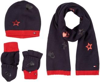 Tommy Hilfiger Men's New Born BOY Poppy GIFTPACK Scarf Hat & Glove Set