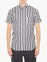 Comme des Garcons Striped Panelled Cotton Shirt