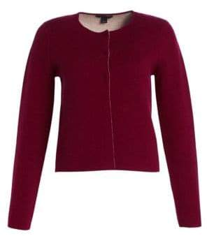 Saks Fifth Avenue COLLECTION Wool & Cashmere Double-Faced Cropped Jacket