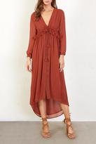 Chan Luu Ruffled Paprika Dress