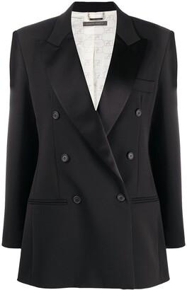 Alberta Ferretti Double-Breasted Tuxedo Jacket
