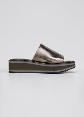 Clergerie Fastie 45mm Metallic Slide Sandals