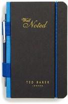 Ted Baker Little Black Book & Pen Set - Blue