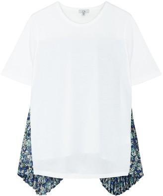 Clu White panelled cotton T-shirt