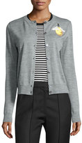 Marc Jacobs Light Bulb Merino Wool Cardigan, Gray