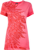 Diesel feathers print T-shirt - women - Cotton - XS