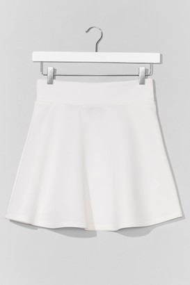 Nasty Gal Womens Dressed to Frill High-Waisted Mini Skirt - White