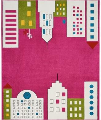 Ebern Designs Chunn Pink Area Rug Ebern Designs Rug Size: Rectangle 4' x 6'