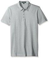 Robert Barakett Men's Ludwig Short Sleeve 4 Button Polo