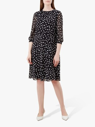 Hobbs Maeve Dress, Black/Ivory