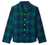 Classic Men's Tall Fit Flannel Pajama Shirt-Regiment Navy Plaid