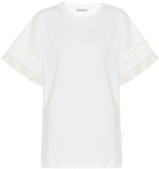 Moncler Ruffled cotton T-shirt