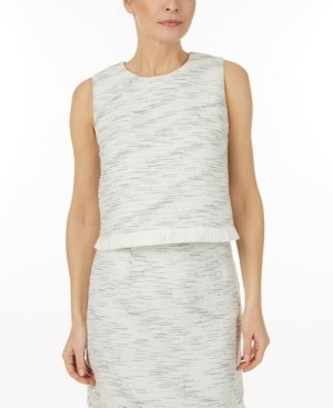 Laundry by Shelli Segal Tweed top
