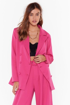Nasty Gal Womens We're in Business Oversized Blazer - Hot Pink