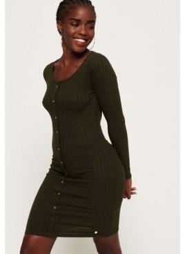 Superdry Button Down Rib Mini Dress