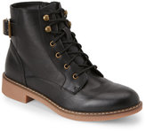 Wanted Black Nellis Buckled Combat Boots