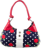 Casadei Leather-Trimmed Printed Bag