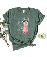 Simply Sage Market Women's Tee Shirts Forest - Forest 'Llama Be Needing Caffeine Today' Crewneck Tee - Women