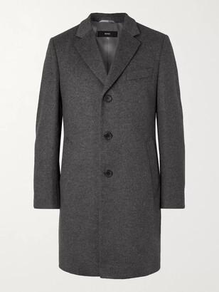 HUGO BOSS Slim-Fit Virgin Wool and Cashmere-Blend Overcoat - Men - Gray