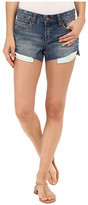 Blank NYC Shorter in the Front and Longer in the Back Cut-Off Denim Shorts