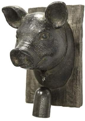 Sagebrook Home Pig Head With Bell Wall Decor Animal