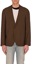 Maison Margiela Men's Wool Collarless Sportcoat-DARK GREEN