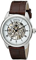 "Invicta Women's 17196SYB ""Specialty"" Stainless Steel Mechanical Hand-Wind Watch With Brown Leather Band"