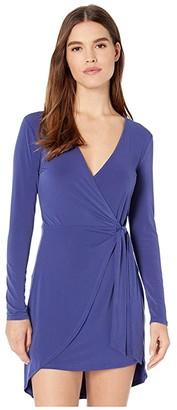 BCBGeneration Cocktail Side Tie Wrap Knit Dress YDM6252817 (Twilight Blue) Women's Clothing