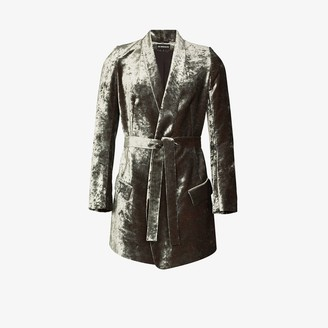 Ann Demeulemeester Lucinda velvet belted jacket