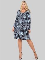 M&Co Izabel Curve wallpaper print tunic dress