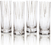 Mikasa Lustre Set of 4 Line Platinum Collins Glasses