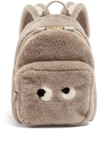 Anya Hindmarch Eyes shearling and leather backpack