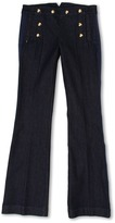Juicy Couture Sailor Pant (Toddler/Little Kids/Big Kids) (Dark Rinse) - Apparel