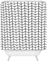 Deny Designs Wonder Forest Grid Lock Shower Curtain