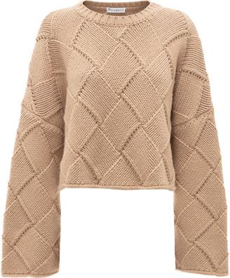 J.W.Anderson Oversized Woven Wool-Blend Sweater